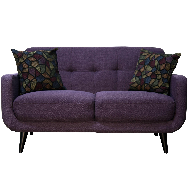Twilight Lavender Mid Century Sofa