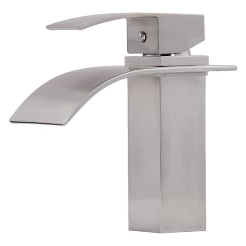 Novatto REMI Single Lever Lav Faucet, Brushed Nickel