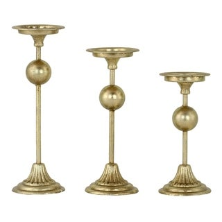 Ivara Gold Candle Holders (Set of 3)