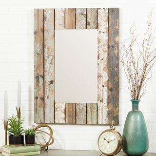 "Torres Farmhouse Wall Mirror - Multi - 28.5""H x 23.5""W x 1.5""D (Mirror: 20""H x 12""W)"