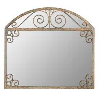 Melina Arch Frame Wall Mirror - Brown