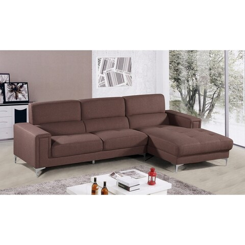 Best Master Furniture YK15 Brown Fabric Sectional