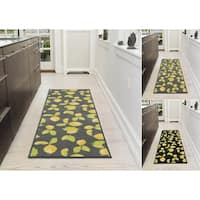 "Ottomanson Lemon Collection Design Runner Rug with Non-Slip (20"" X 59"") - 1'8"" x 4'11"""