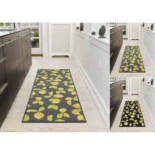 "Ottomanson Lemon Collection Design Runner Rug with Non-Slip (20"" X 59"") - 1'8"" x 4'11"""