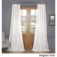 Exclusive Fabrics Avignon Vine Patterned Faux Linen Sheer Curtain