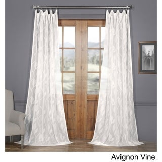 Exclusive Fabrics Avignon Vine Patterned Faux Linen Sheer Curtain