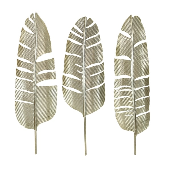 Roxbury Gold Leaf Wall Decor Set Of 3