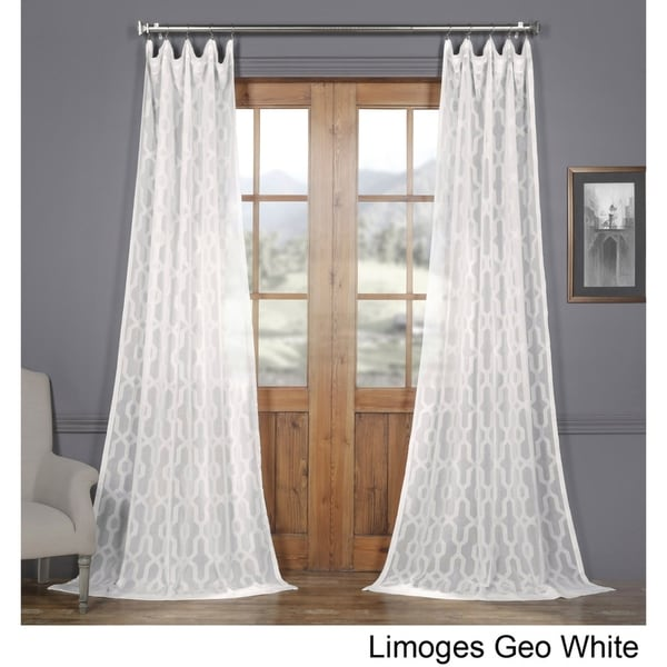 Shop Exclusive Fabrics Limoges Geo White Patterned Faux