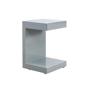 LINO High Gloss Gray Lacquer Nightstand by Casabianca Home