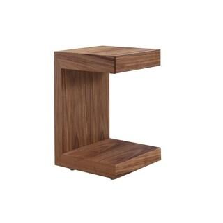 Casabianca Home Lino Walnut Finish Veneer Nightstand