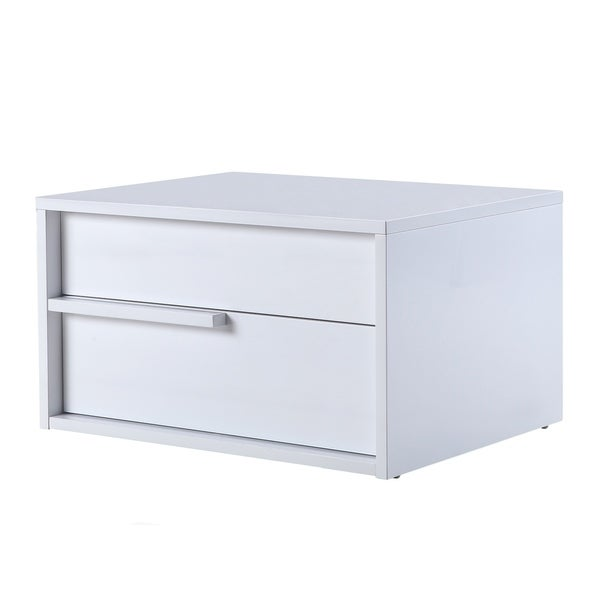 white laquer furniture. DOLCE High Gloss White Lacquer Left Side Nightstand / End Table By  Casabianca Home White Laquer Furniture A