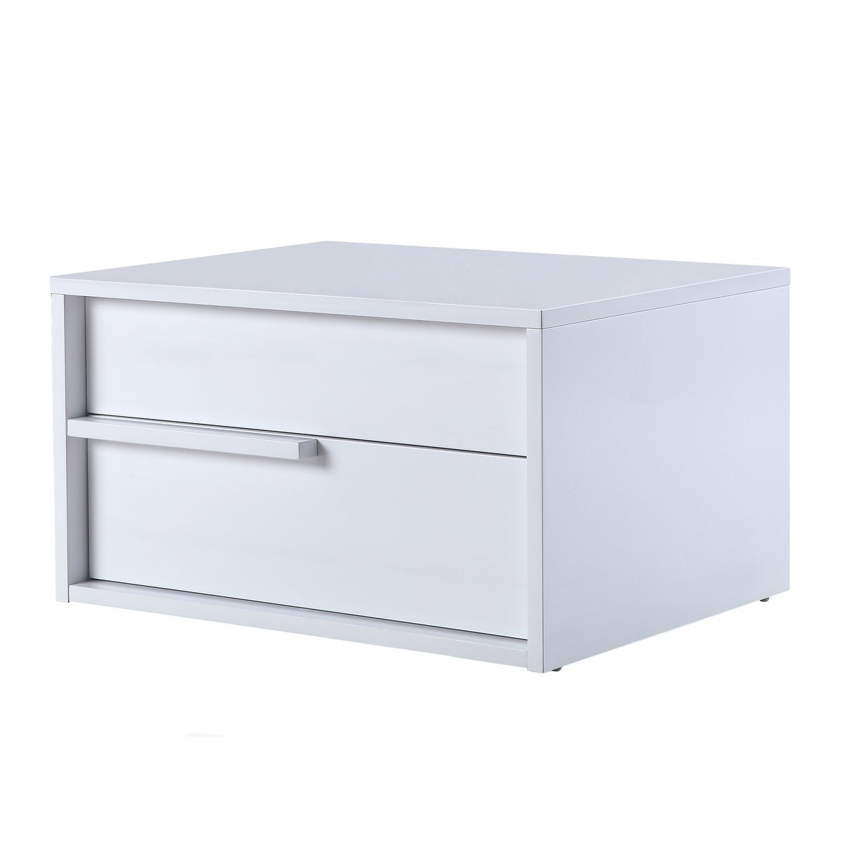 Casablanca Home Dolce High Gloss White Lacquer/Wood Left ...
