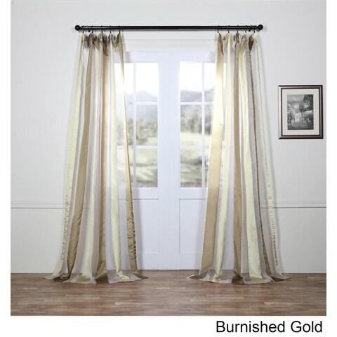 Exclusive Fabrics Organza Vertical Stripe Sheer Curtain