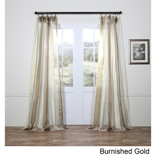 Exclusive Fabrics Organza Vertical Stripe Sheer Curtain