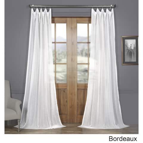 Exclusive Fabrics Bordeaux Striped Faux Linen Sheer Curtain