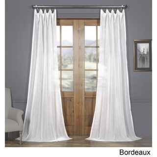 Link to Exclusive Fabrics Bordeaux Striped Faux Linen Sheer Curtain Similar Items in Window Treatments