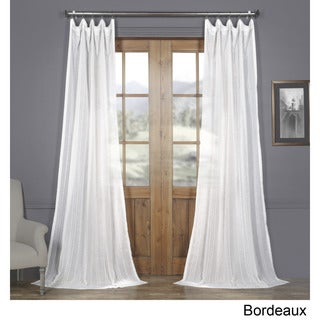 Exclusive Fabrics Bordeaux Striped Faux Linen Sheer Curtain