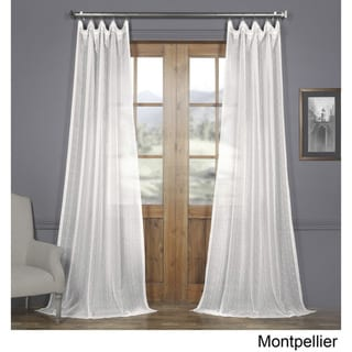 Exclusive Fabrics Montpellier Striped Linen Sheer Curtain