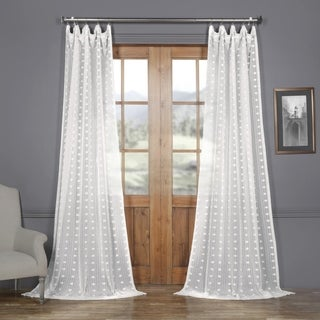Link to Exclusive Fabrics Strasbourg Dot Patterned Faux Linen Sheer Curtain Similar Items in Window Treatments