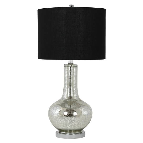 Mayfair Silver Antique Mercury Finish Glass Table Lamp
