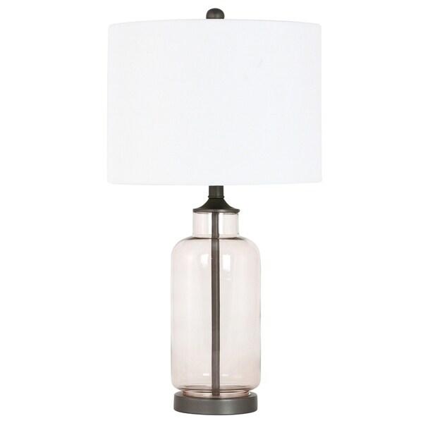 Monroe Rosy Glass Table Lamp