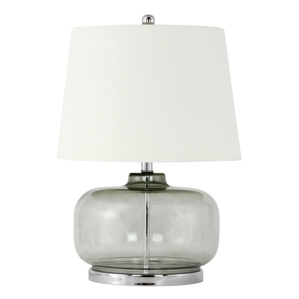 Laguna Smokey Sage/Light Beige Glass/Linen Table Lamp