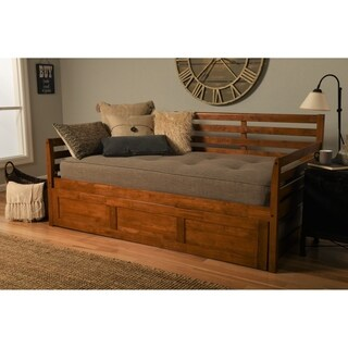 Somette Boho Barbados Finish Wood Daybed