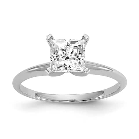 Moissanite 14K White Gold 1.5ct. 6.5mm Princess-cut Solitaire Ring by Versil