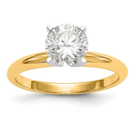 14K Yellow Gold 1/2ct. 5.0mm True Light Moissanite Solitaire Ring By Versil