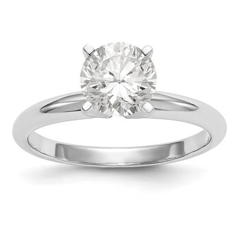 Moissanite 14K White Gold .80ct. 6.0mm Solitaire Ring by Versil