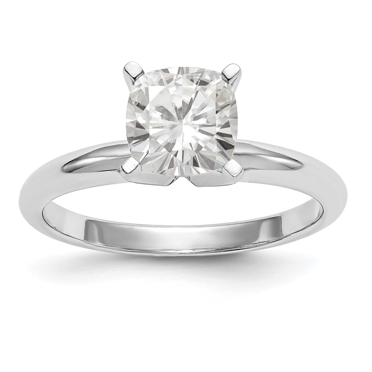 .75 ct tw Charles Colvard 6mm Moissanite 14k Yellow Gold Solitaire Ring Size 6