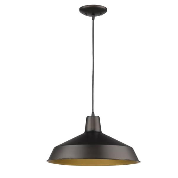Acclaim Lighting Alcove Indoor 1-Light Pendant With Metal Shade In Oil Rubbed Bronze