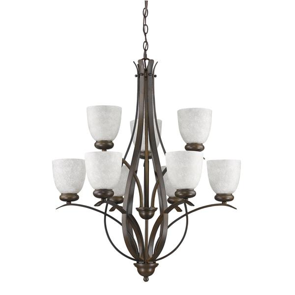 Acclaim Lighting Alana Oil-rubbed Bronze Metal/Glass Indoor 9-light Chandelier
