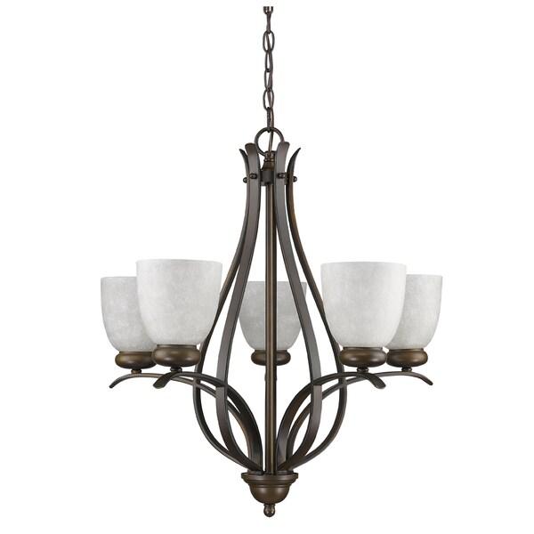 Acclaim Lighting Alana Oil-rubbed Bronze Steel/Glass Indoor 5-light Chandelier