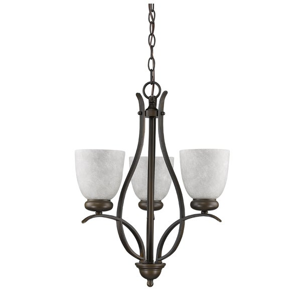 Acclaim Lighting Alana Bronze Steel and Glass 3-light Mini Chandelier