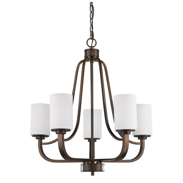 Acclaim Lighting Addison Oil Rubbed Bronze Indoor 5-light Chandelier with Glass Shades