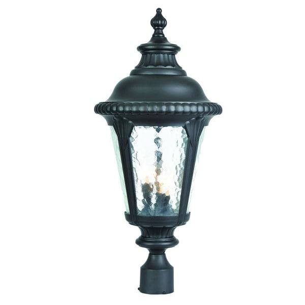Acclaim Lighting Somerset 1 Light Matte Black Outdoor Post: Shop Acclaim Lighting Surrey Collection Post-Mount 3-Light