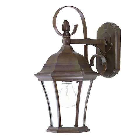 Acclaim Lighting New Orleans Collection Wall-Mount 1-Light Outdoor Burled Walnut Light Fixture
