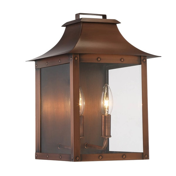 Shop Acclaim Lighting Manchester 2-Light Outdoor Copper