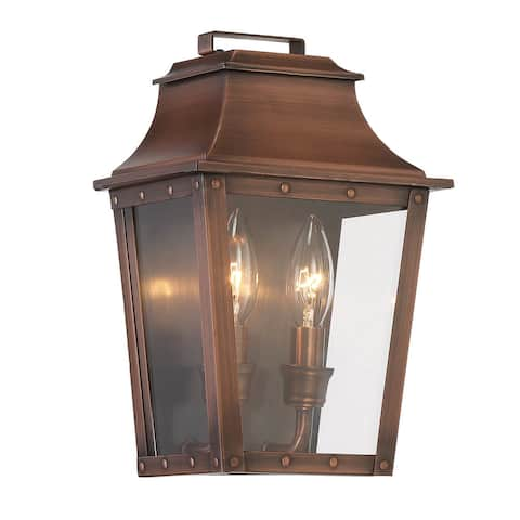 Acclaim Lighting Coventry 2-Light Outdoor Copper Patina Light Fixture