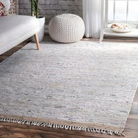 Clay Alder Home Isabella Contemporary Flatweave Beige Cotton Tassel Area Rug - 7'6 x 9'6