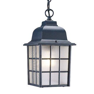 Acclaim Lighting Nautica Collection Hanging Lantern 1-Light Outdoor Matte Black Light Fixture
