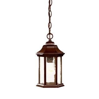 Acclaim Lighting Madison Collection Hanging Lantern 1-Light Outdoor Burled Walnut Light Fixture