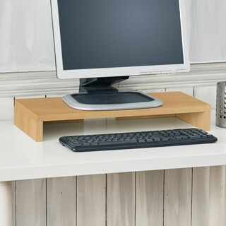 Ashton Eco Computer Monitor Stand Riser, Natural LIFETIME GUARANTEE