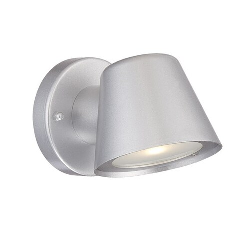 Acclaim Lighting LED Wall Sconces Collection Wall-Mount 1-Light Outdoor Brushed Silver Light Fixture
