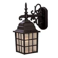 Acclaim Lighting Nautica Collection Wall-Mount 1-Light Outdoor Matte Black Light Fixture