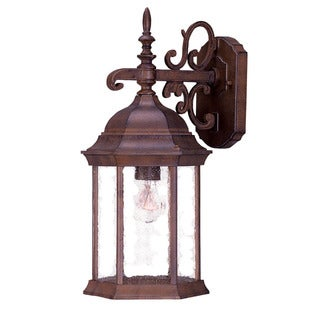 Acclaim Lighting Madison Collection 1-Light Outdoor Burled Walnut Wall Light