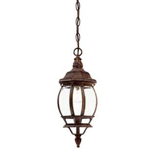 Acclaim Lighting Chateau Collection Hanging Lantern 1-Light Outdoor Burled Walnut Light Fixture