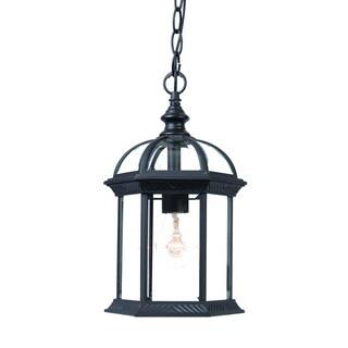 Acclaim Lighting Dover Collection Hanging Lantern 1-Light Outdoor Matte Black Light Fixture