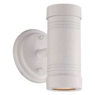 Acclaim Lighting Cylinders Collection Wall-Mount 2-Light Outdoor White Light Fixture